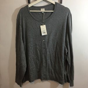 Button front sweater 4x